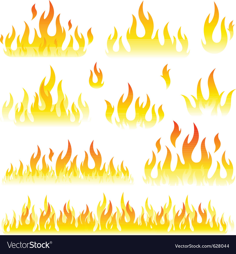 flames royalty free vector image vectorstock rh vectorstock com vector flames free download vector frames