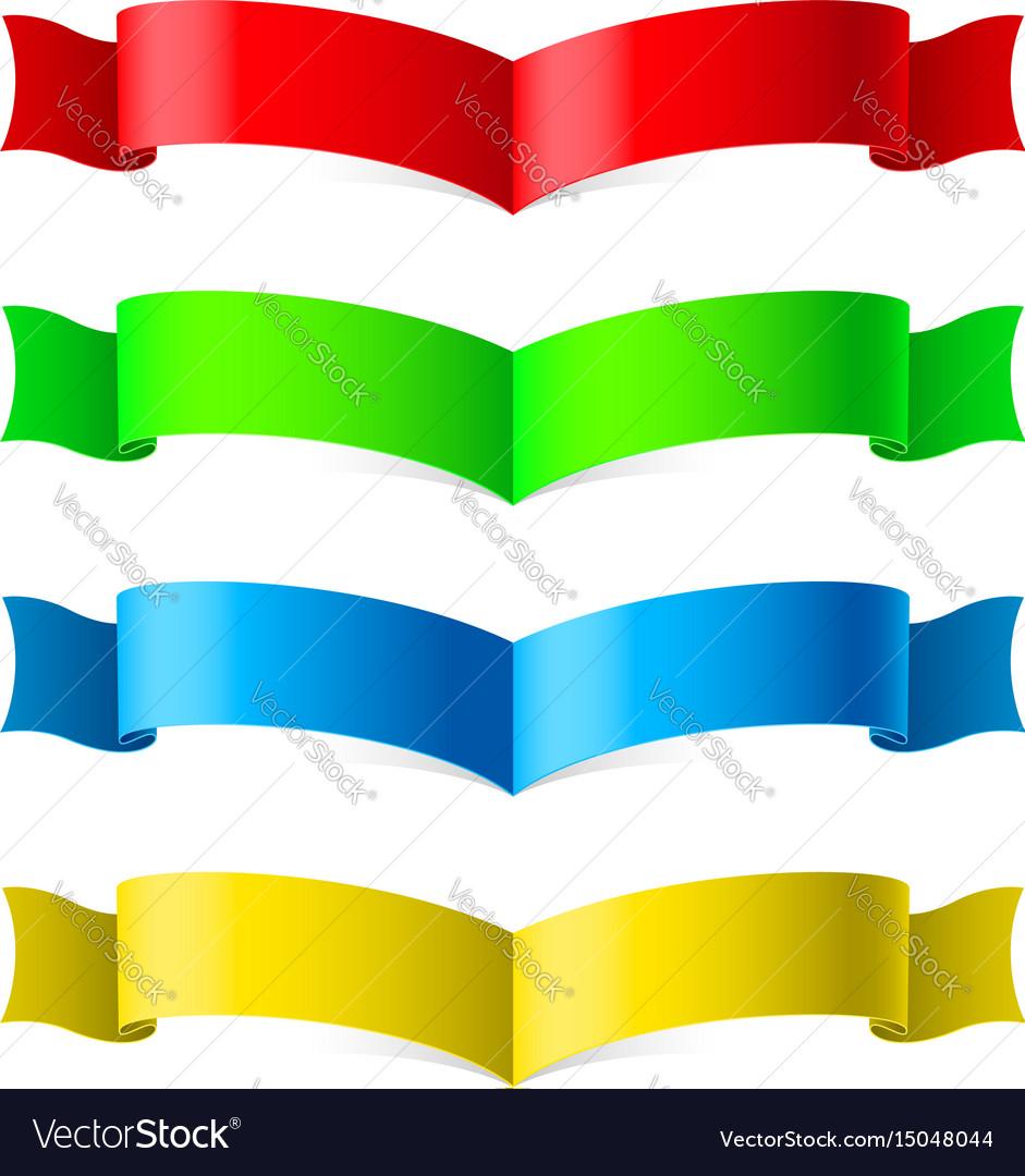 Ribbons set on white for design