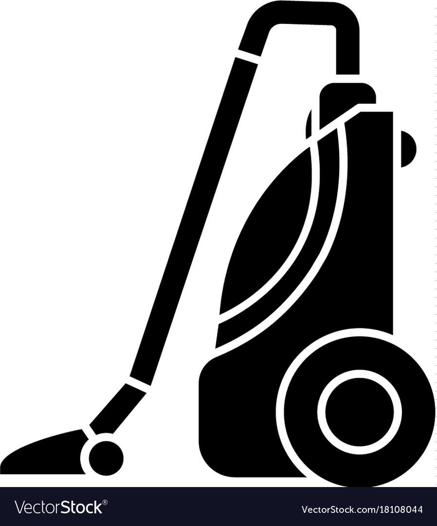 Vacuum cleaner icon black