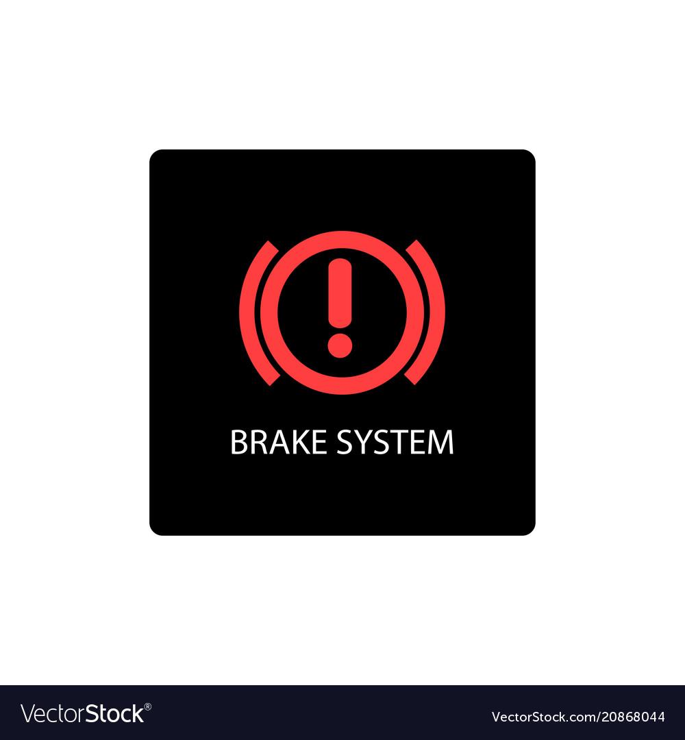 Warning dashboard car icon brake system