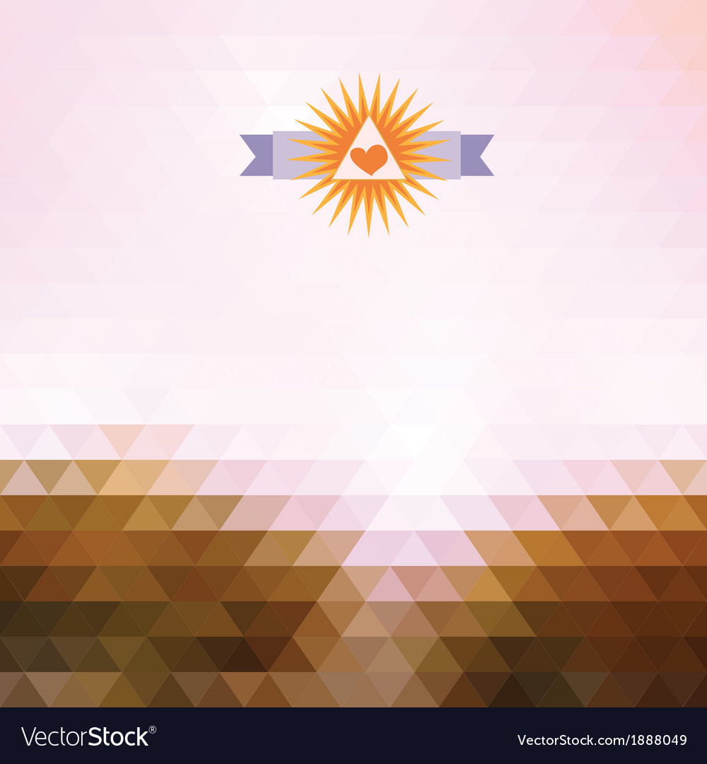 Abstract background with triangle