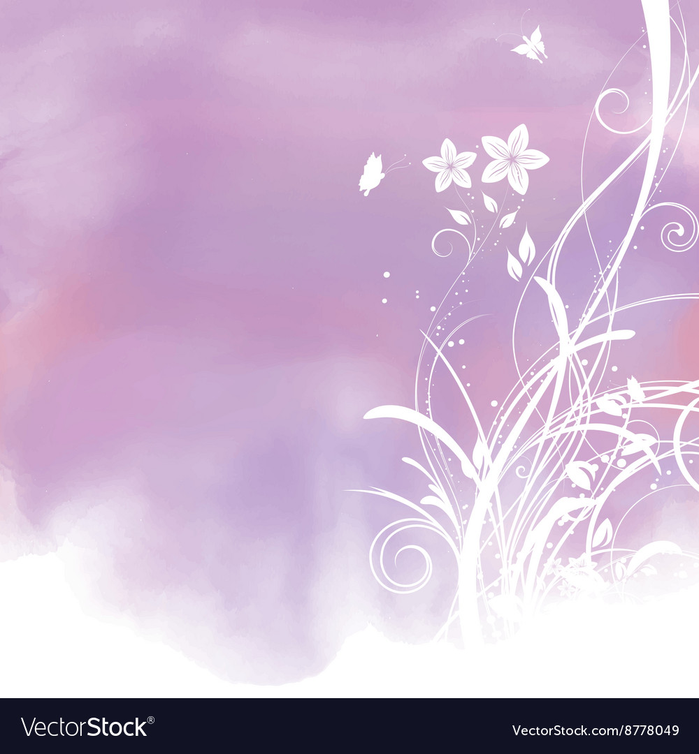 Floral Watercolor Background 1804 Royalty Free Vector Image
