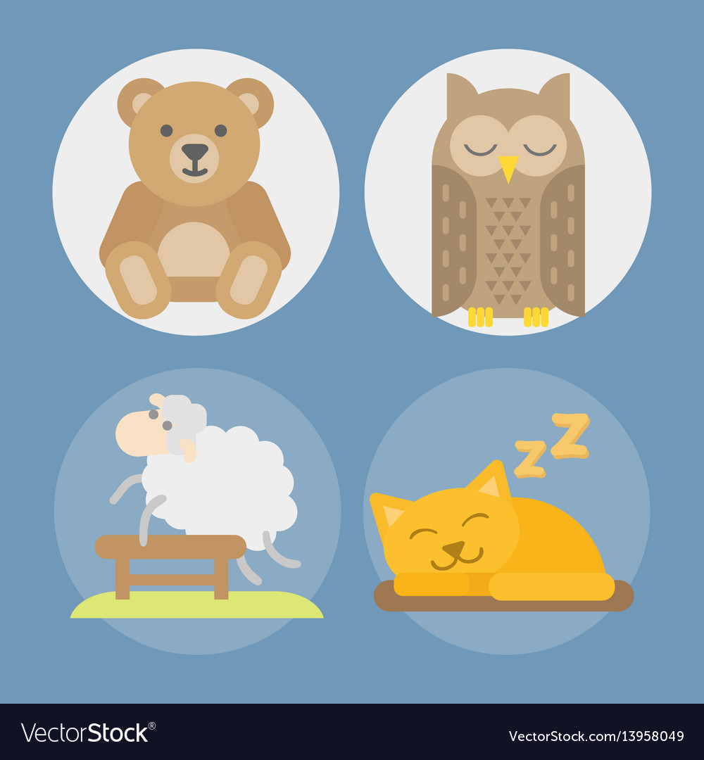 Sleep animals icon gift toy