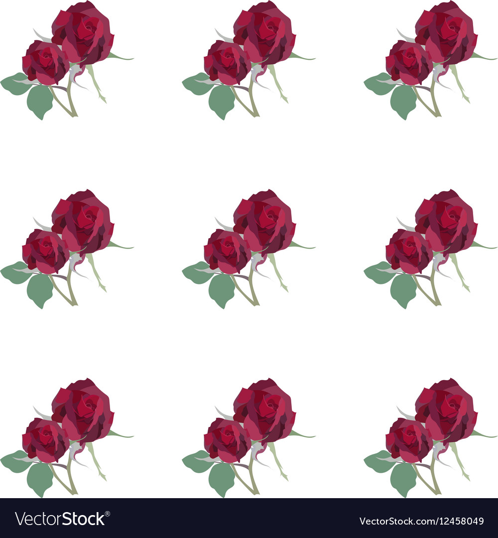 Watercolor Red Rose pattern