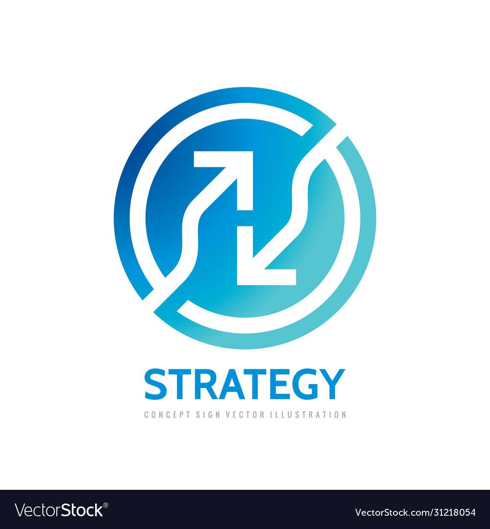 Arrows in circle - logo template concept
