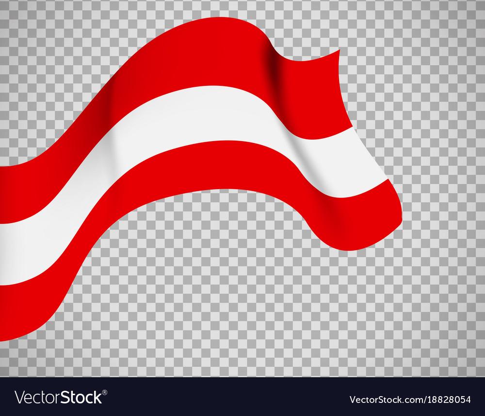 austria flag on transparent background royalty free vector