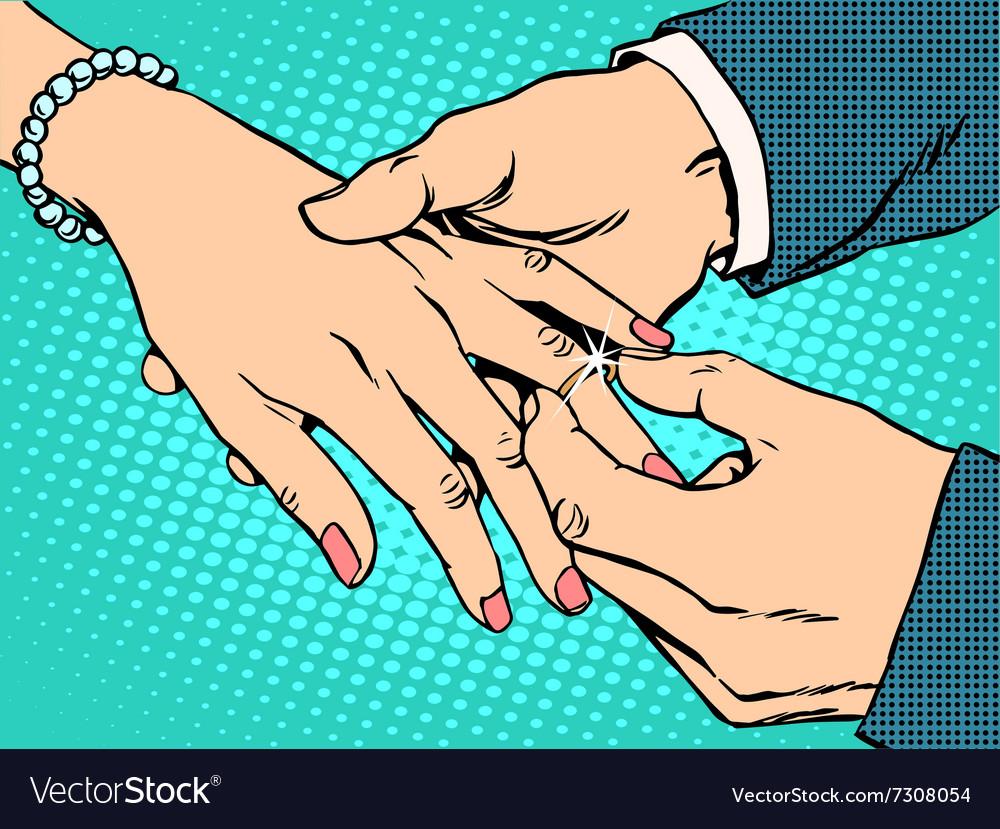 Betrothal wedding bride groom gold ring