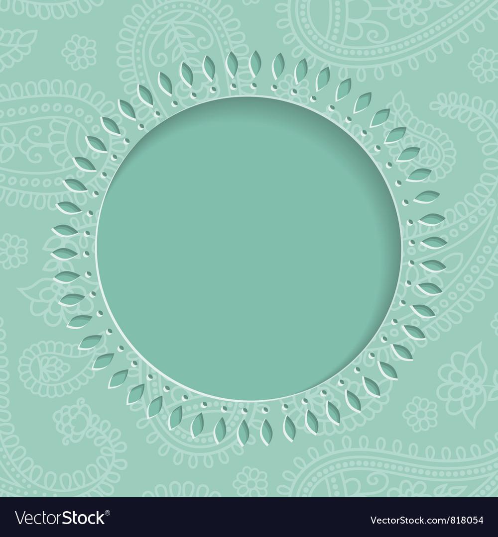 Blue paisley frame