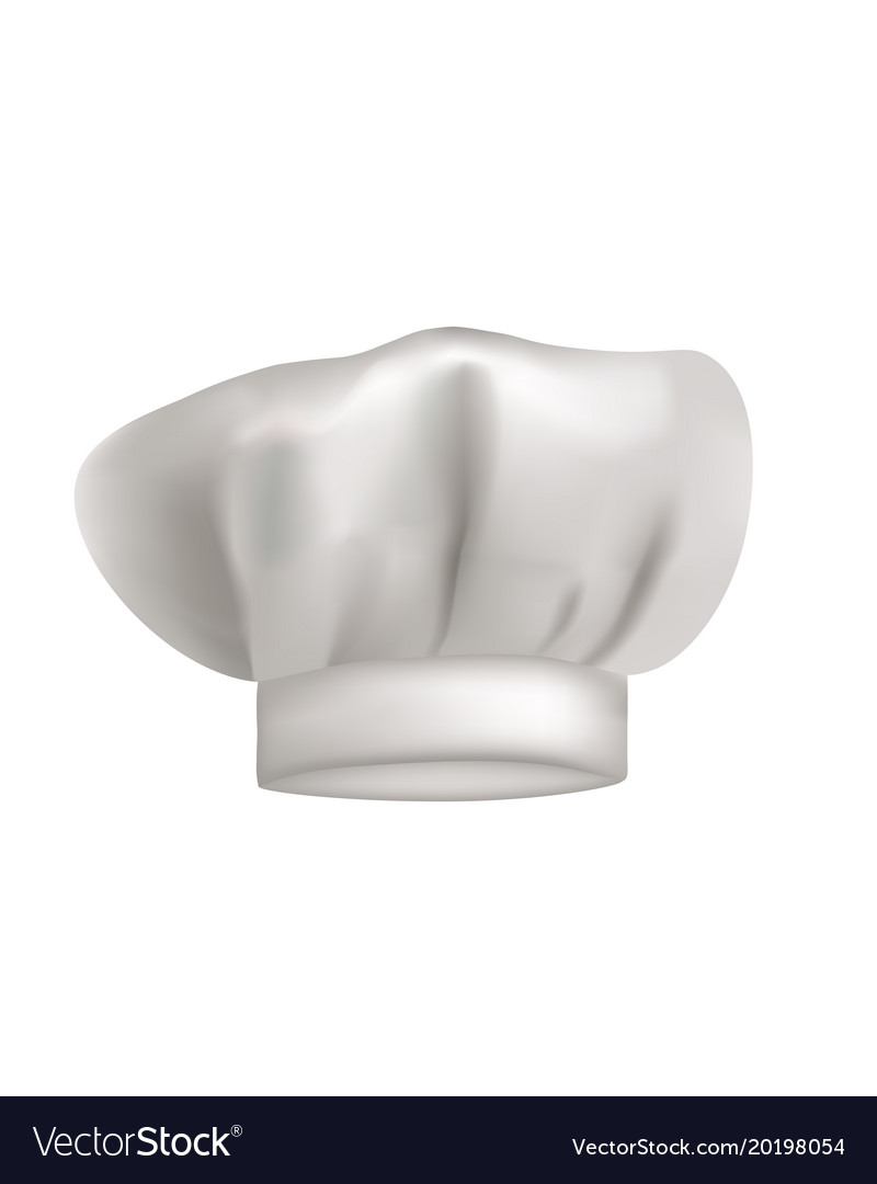 Chief hat on white background vector image