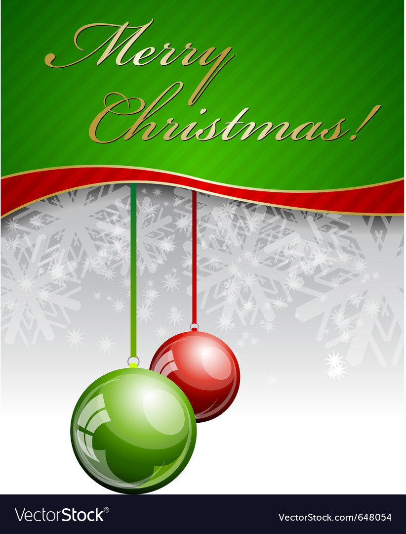 Christmas background with two balls