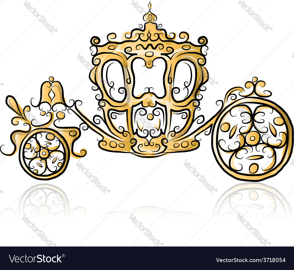 Golden carriage sketch for your design