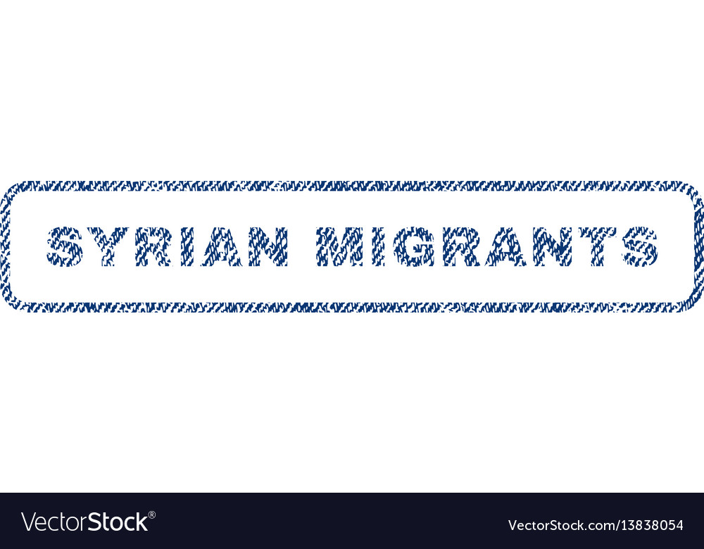 Syrian migrants textile stamp