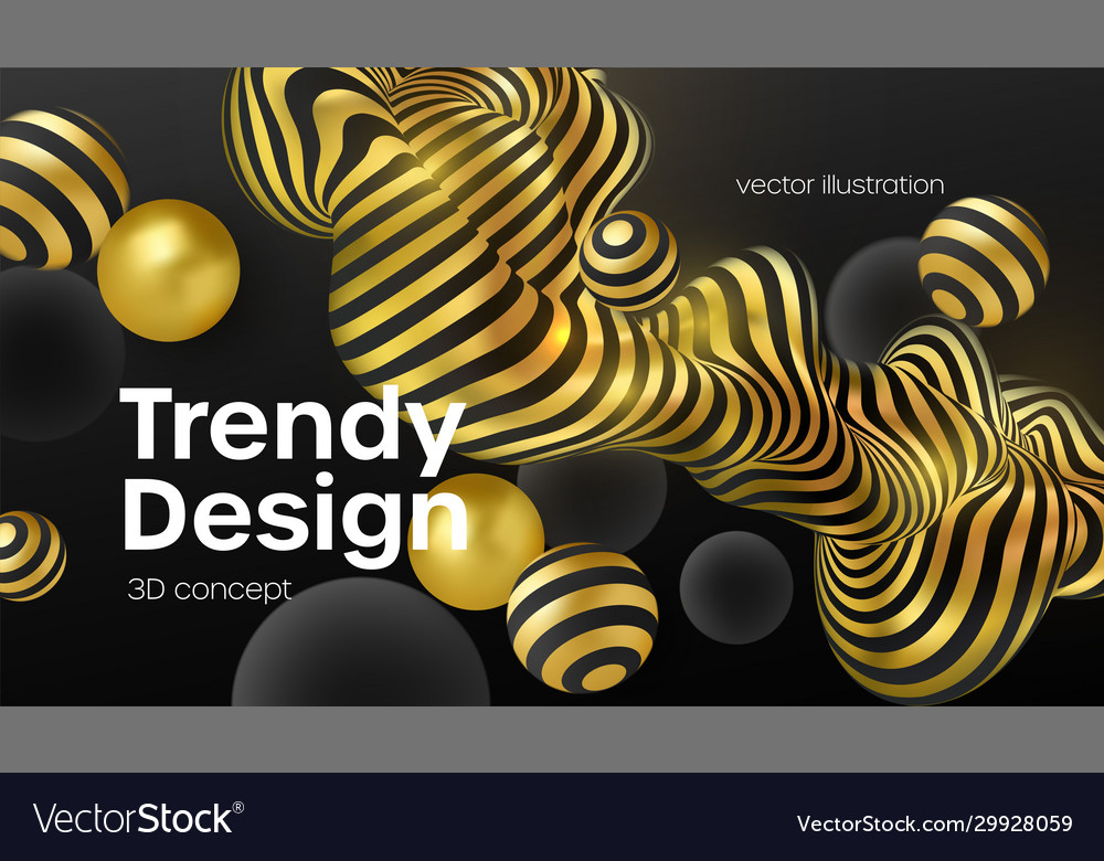 Abstract background with 3d geometric shapes