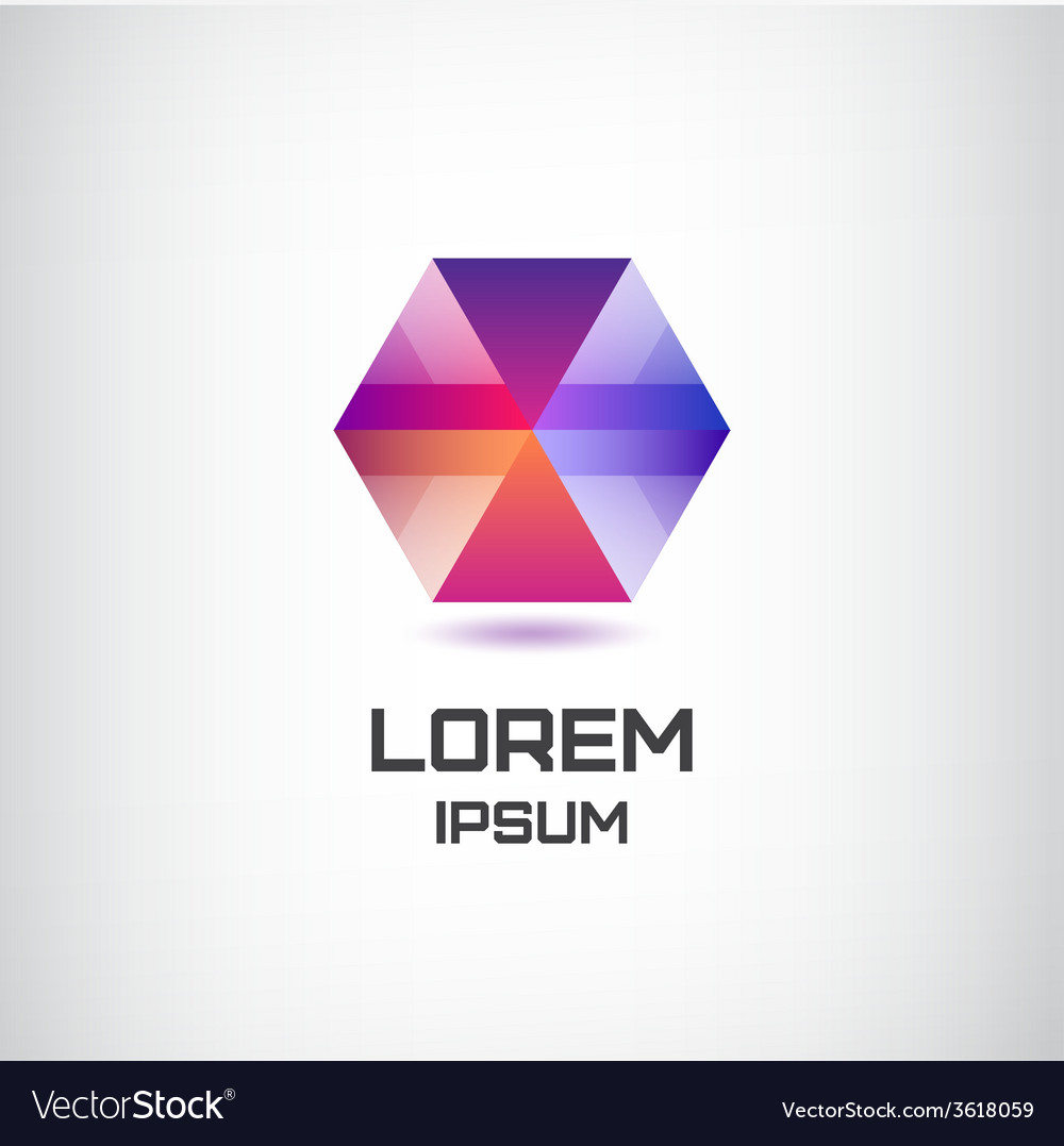 Abstract geometric colorful modern logo for vector image