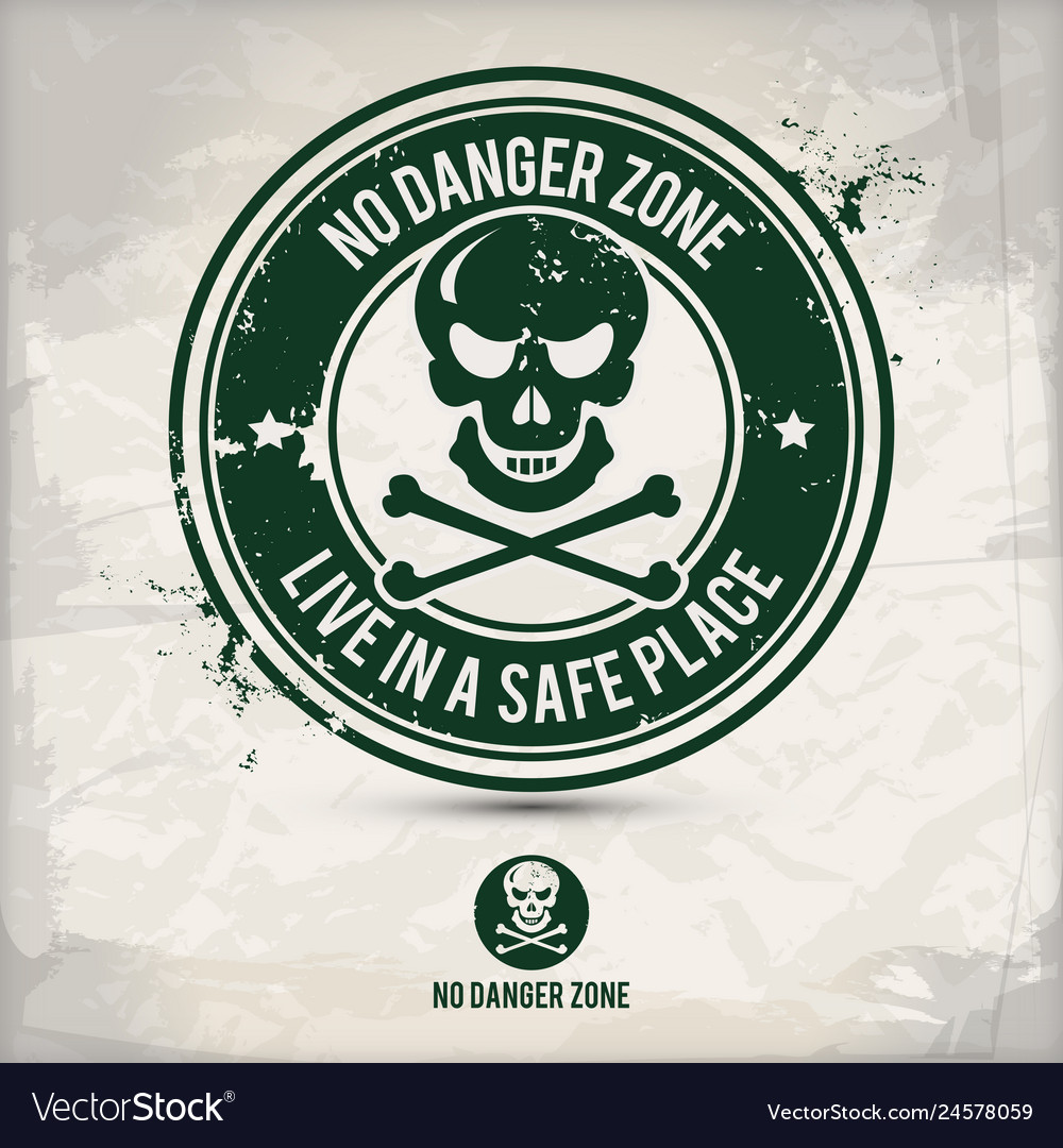 Alternative no danger zone stamp