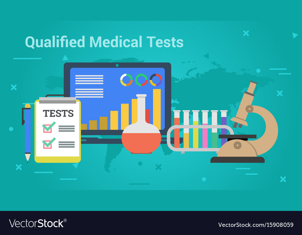 Business banner - qualified medical tests