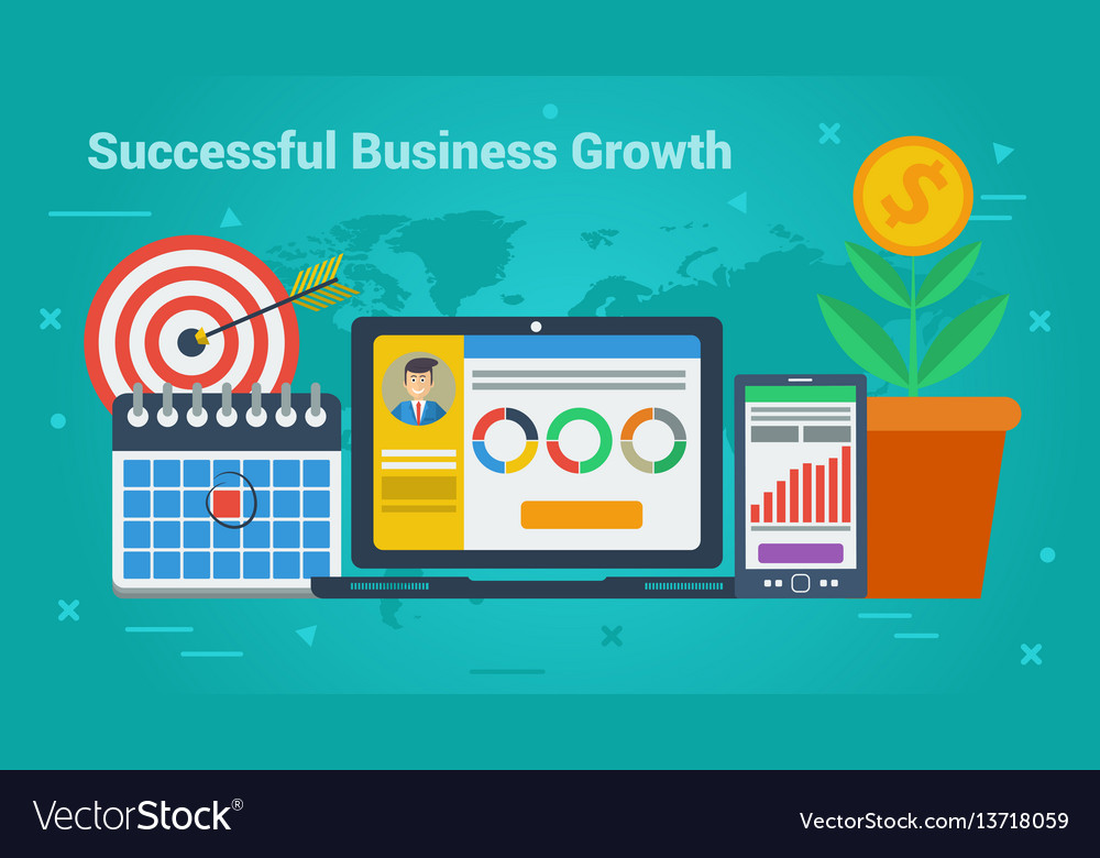 Business banner - successful business growth