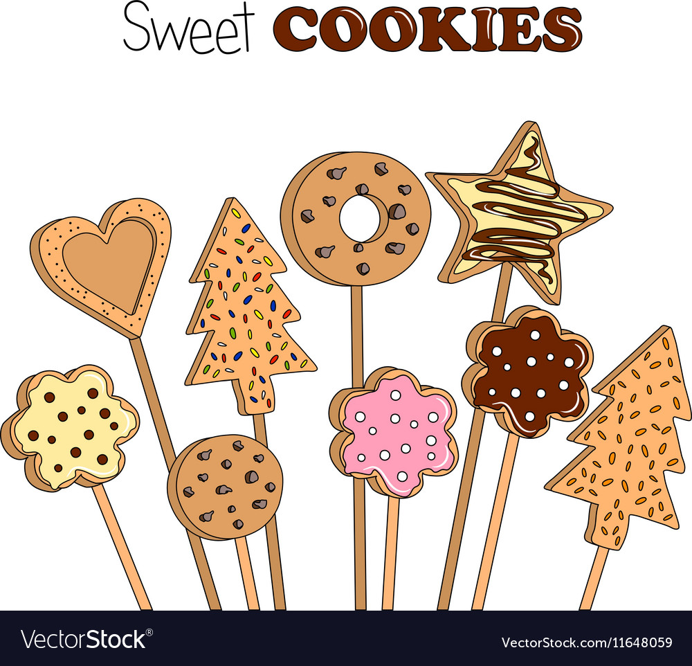 Cookies on a wooden stick