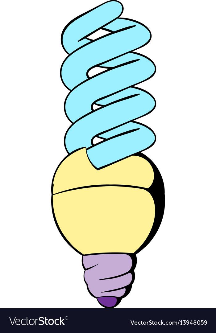 Energy saving lamp icon cartoon