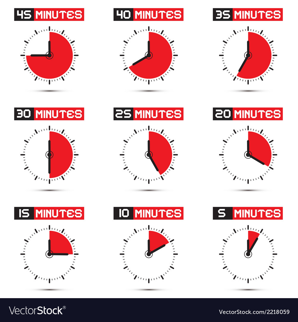 Five to Forty Five Minutes Stop Watch
