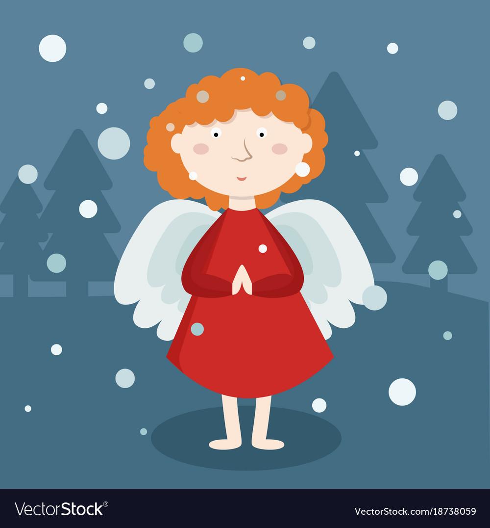 Greeting card christmas card with christmas angel