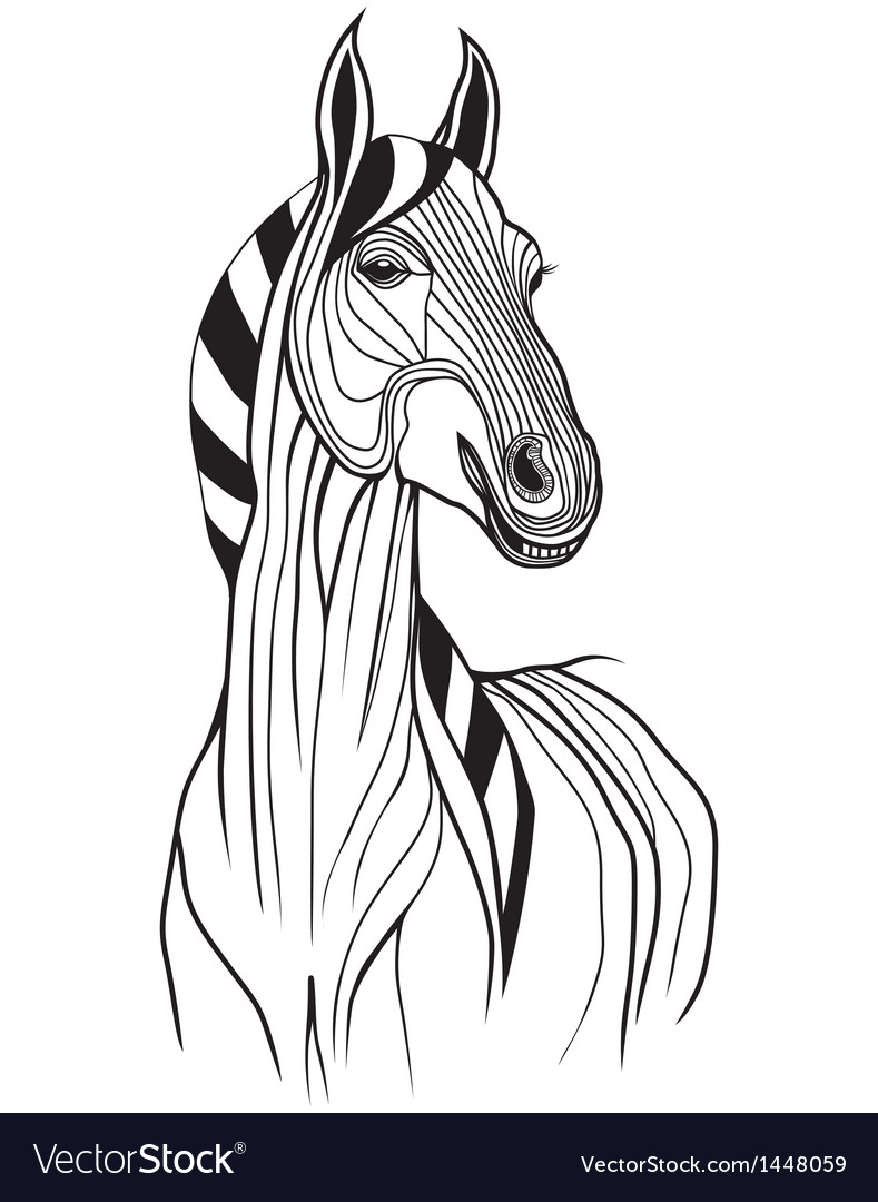 Horse head animal for t-shirt