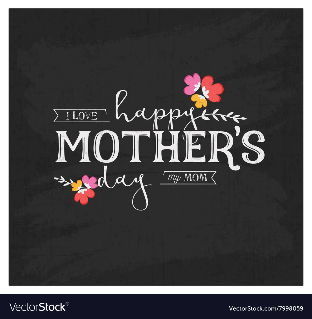 Mothers Day Design Element for Greeting Card