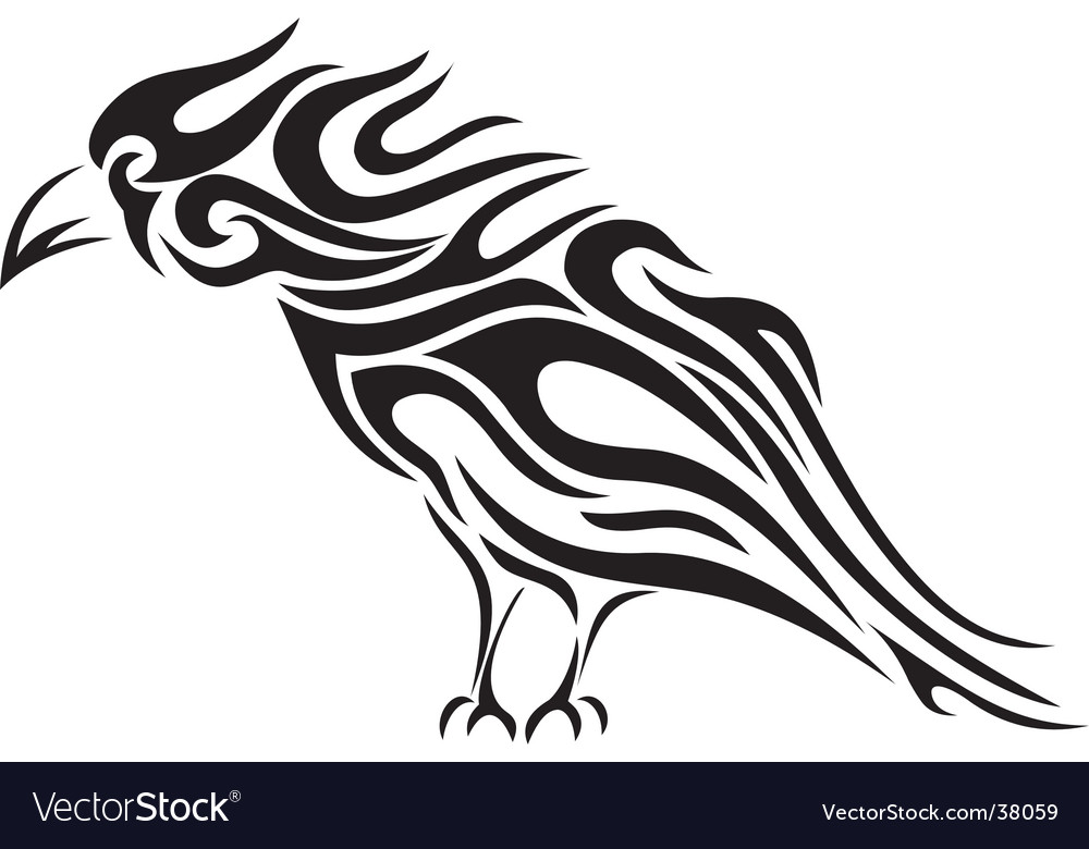 tattoo tribal download vector vector Animal tribal vectors  Raven  art tattoo Download 38059