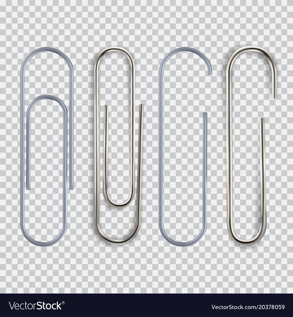 realistic paper clip royalty free vector image