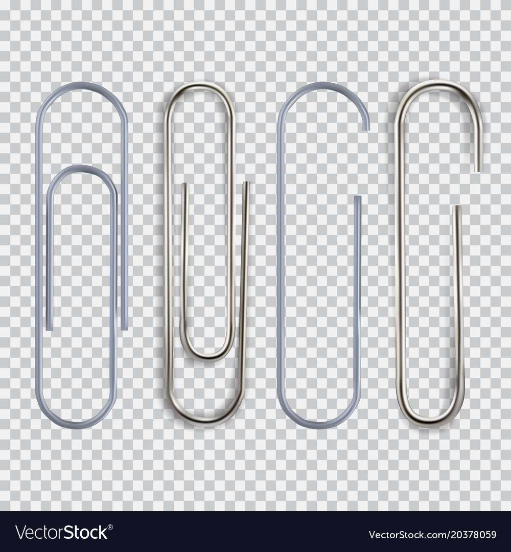 realistic paper clip royalty free vector image rh vectorstock com paper clip vector download paper clip vector art