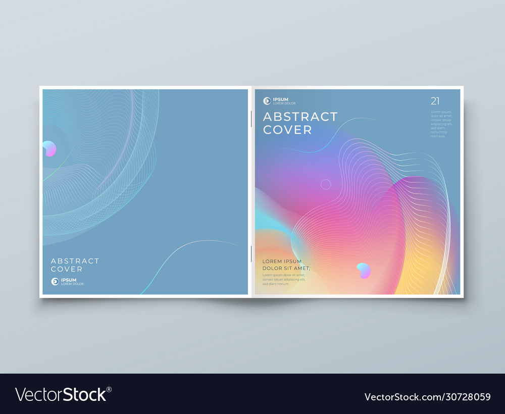Square liquid abstract cover background design