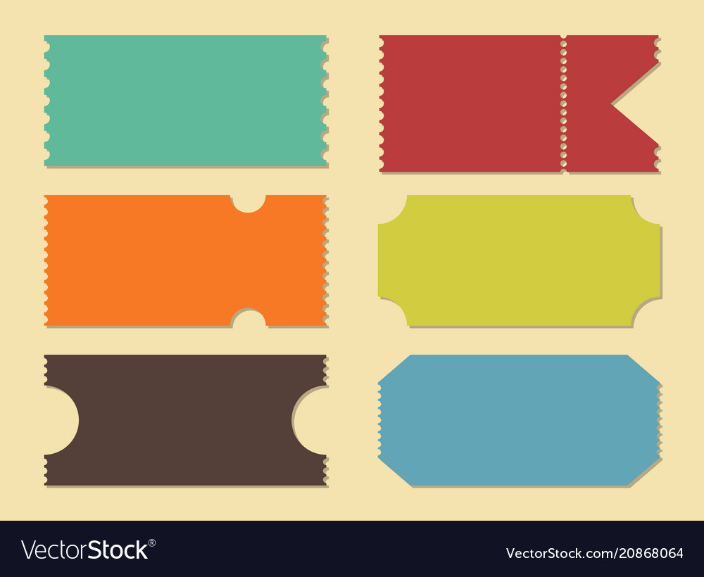 Creative of blank shapes of vector image