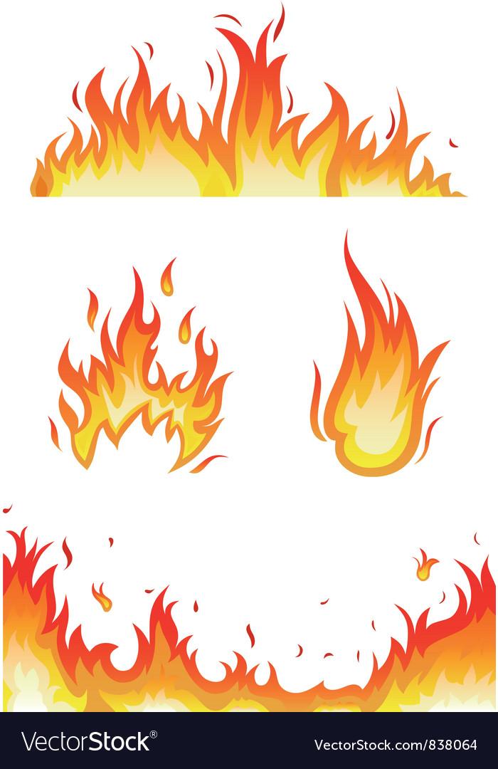 Fire Flames Royalty Free Vector Image Vectorstock