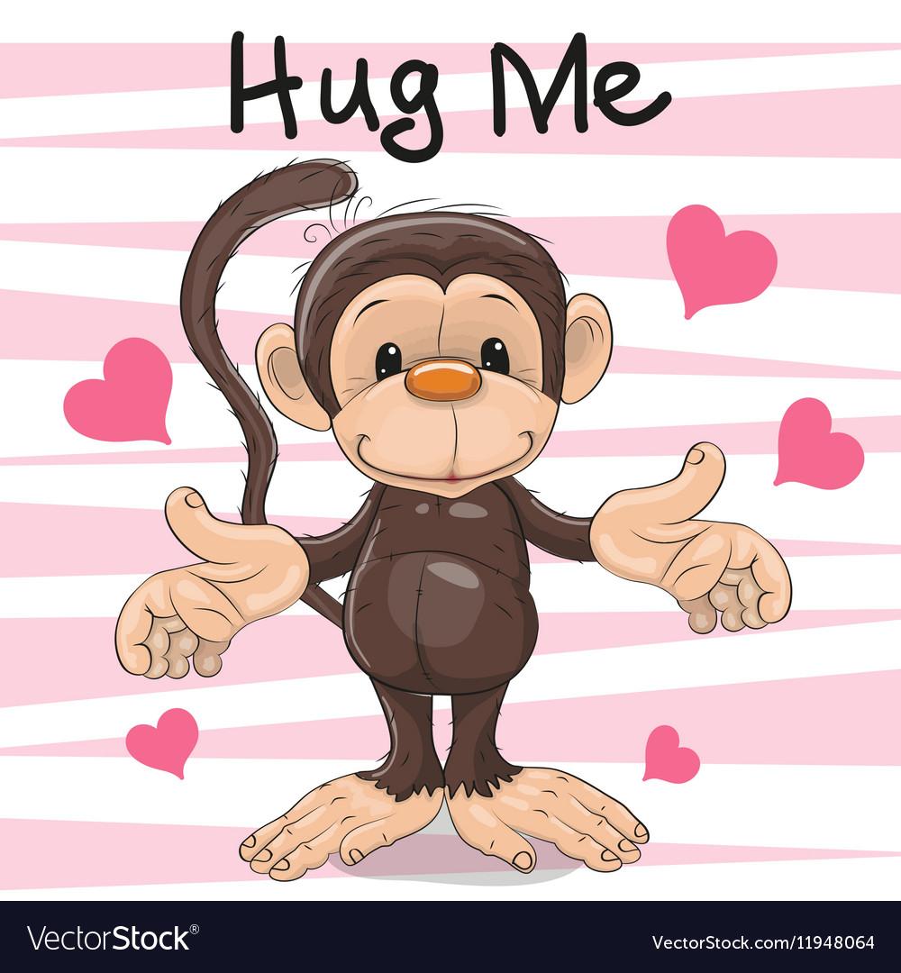 Hug Me Monkey vector image
