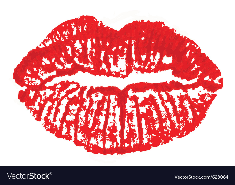 Lips mark vector image