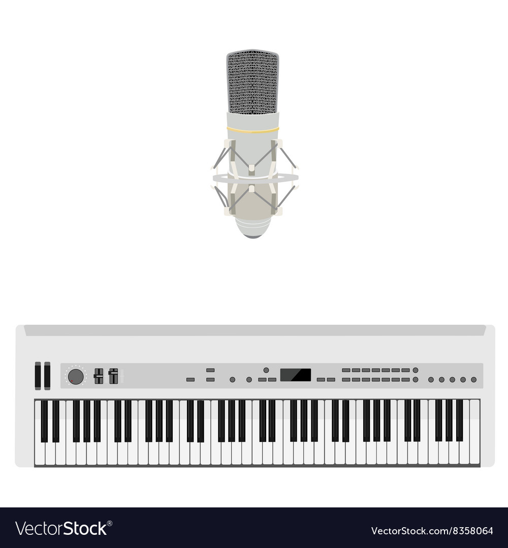 Microphone and synthesizer