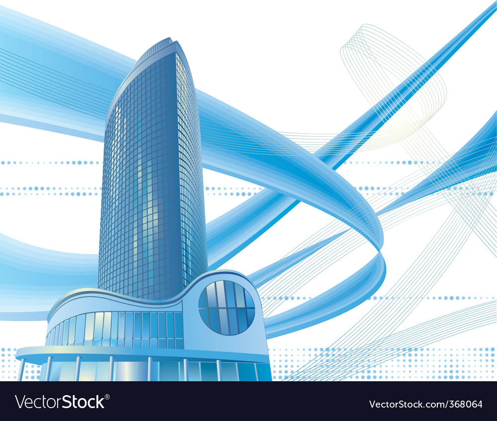 Modern city building vector image
