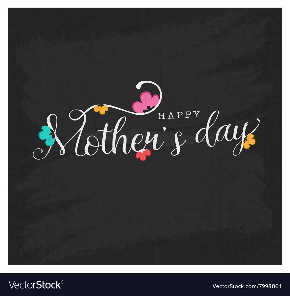Mothers day design element for greeting cards