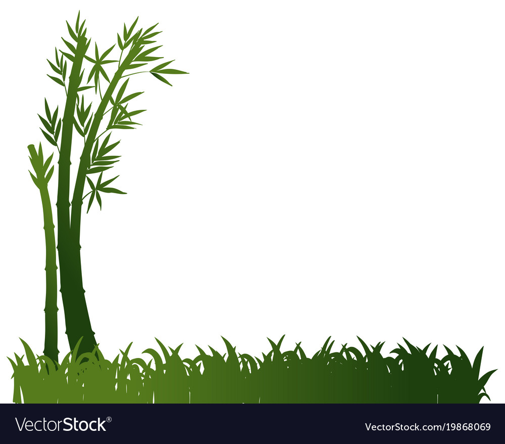 background design with bamboo plants royalty free vector