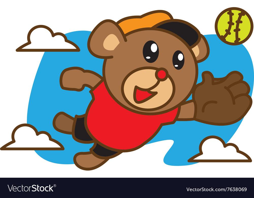 Bear Catching Ball