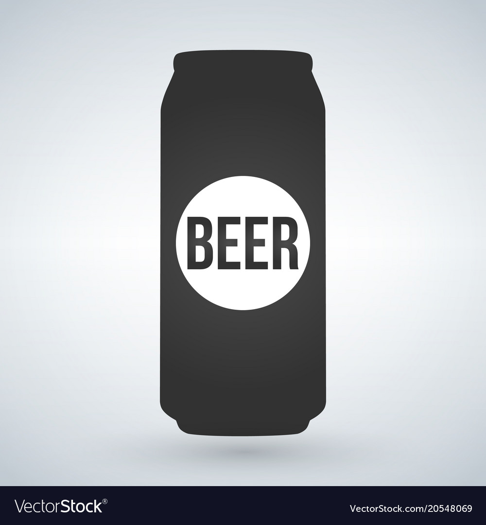 Beer can icon on light background isolated