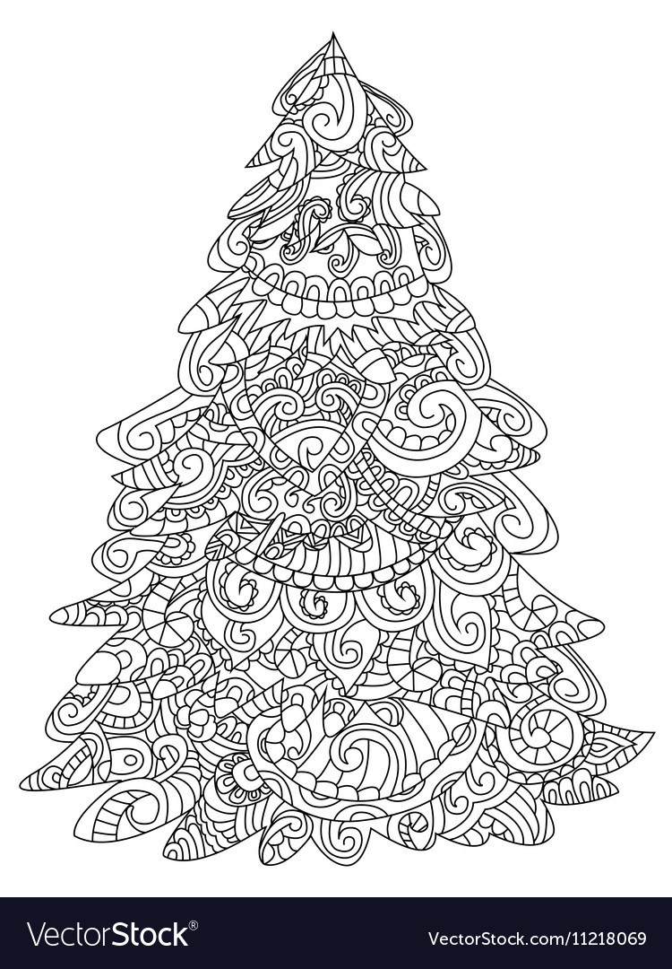 Christmas Tree Coloring Pictures.Christmas Tree Coloring