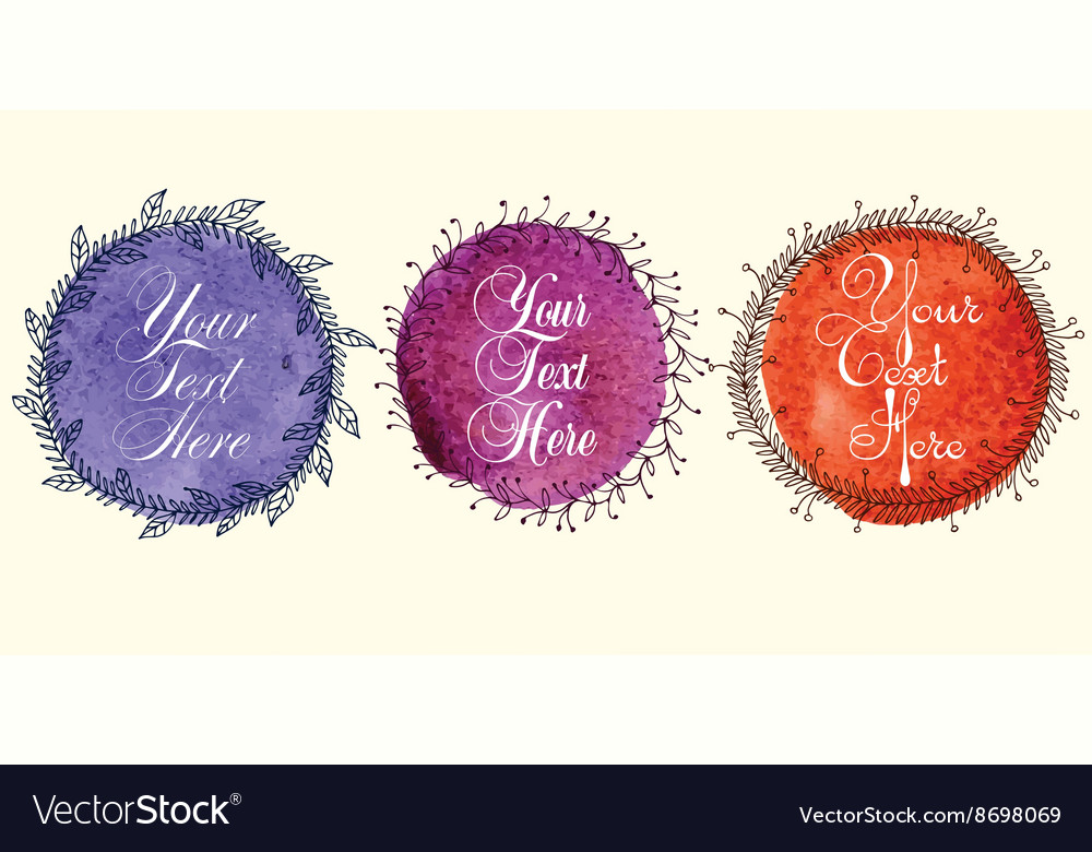Colored frames set Royalty Free Vector Image - VectorStock