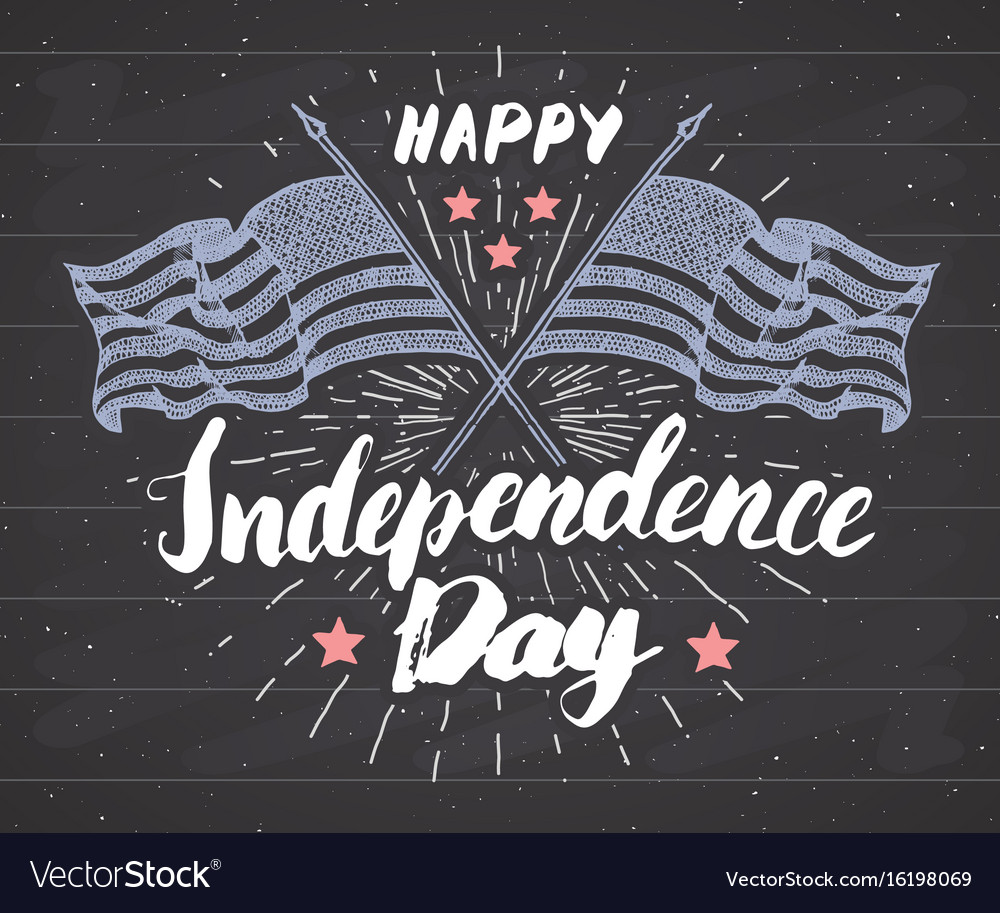 Happy independence day fourth july vintage