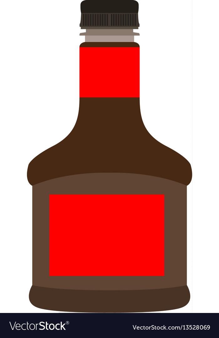 Isolated soy bottle