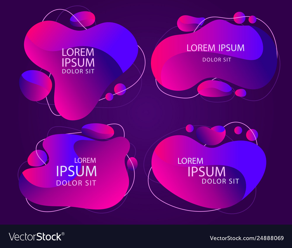 Modern abstractframe banner color abstract liquid