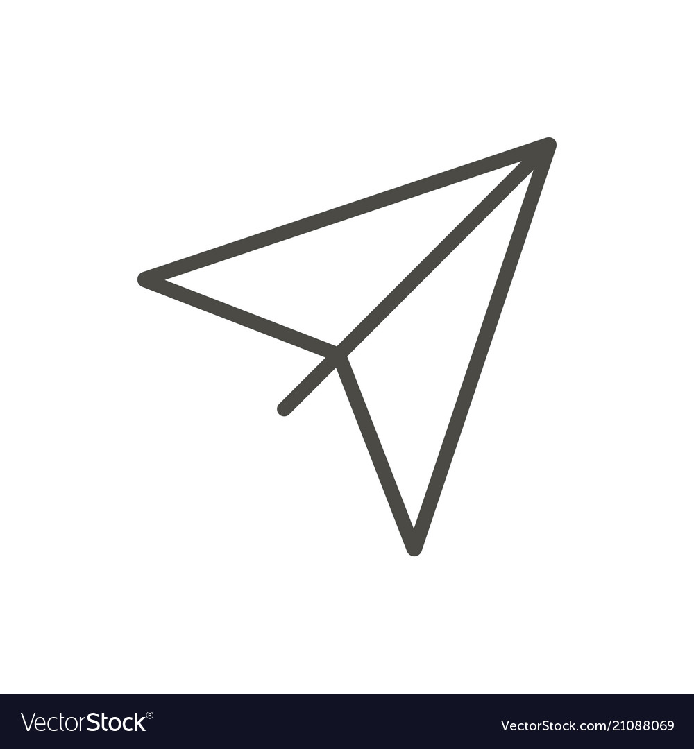 Paper plane icon outline airplane line or