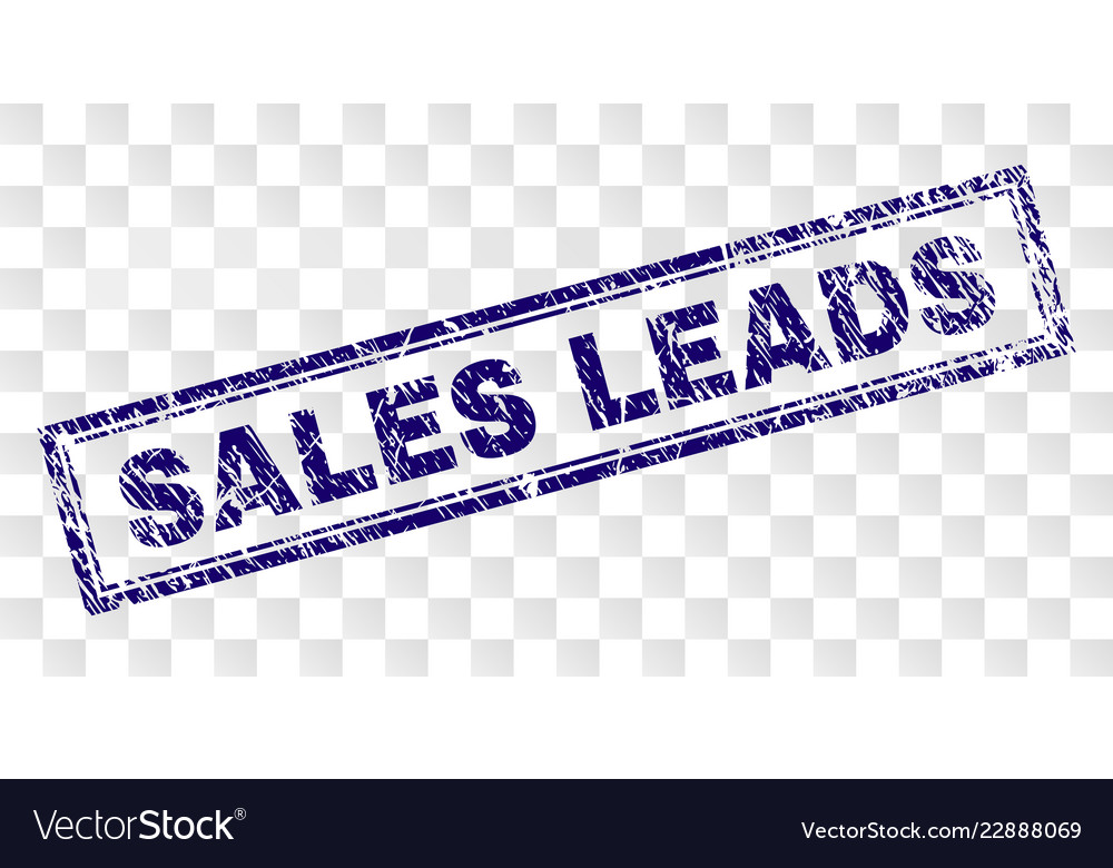 scratched sales leads rectangle stamp royalty free vector