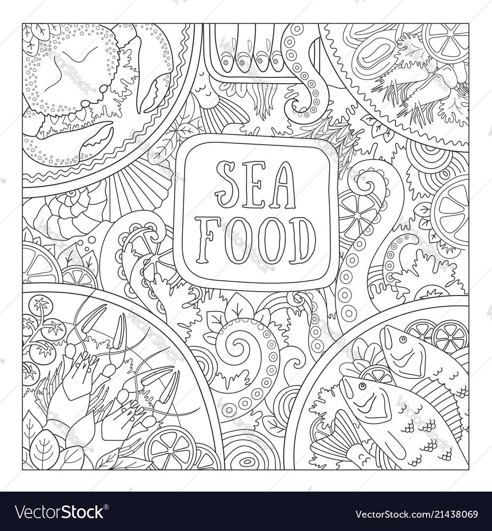 Sea food design concept for shop restaurant