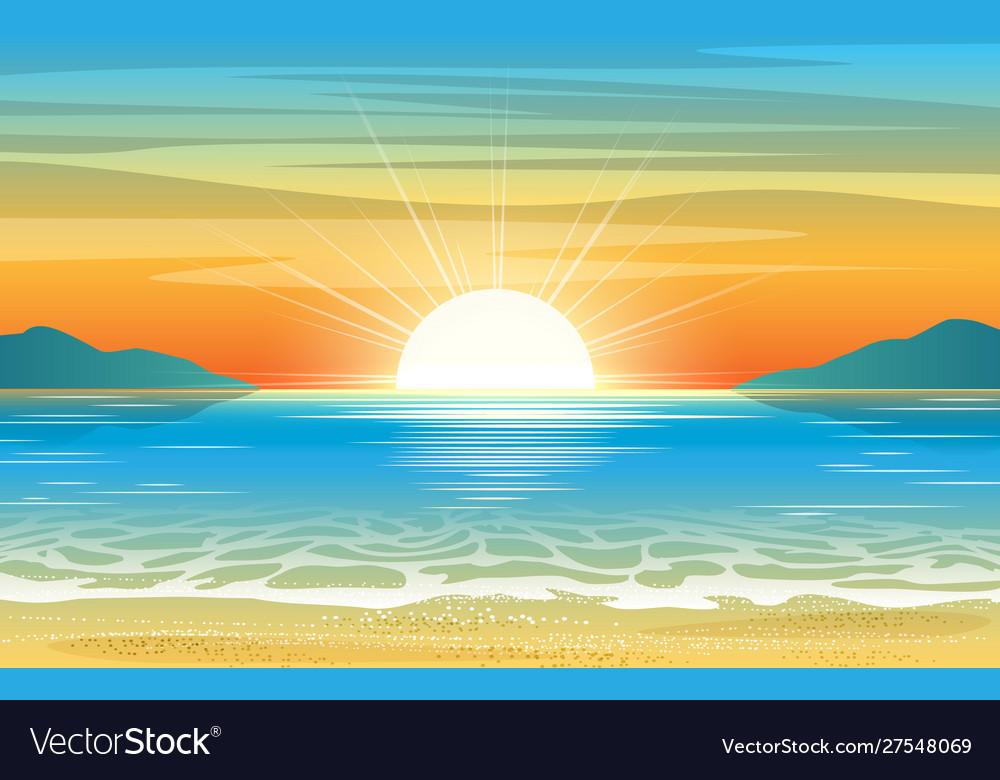 Seascape sunset background